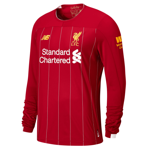 New Balance Liverpool Long Sleeve Home Jersey 19 20