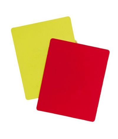 Kwikgoal Referee Red and Yellow Cards