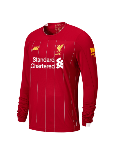 New Balance Liverpool Long Sleeve Home Jersey 19/20