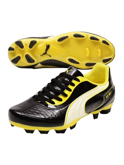 Puma v5.11 FG Black-White-Yellow