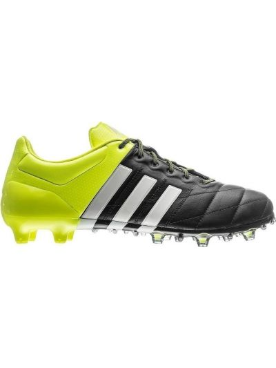 adidas Leather ACE15.1 FG-AG Black Solar