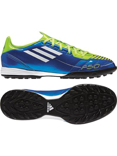 adidas F10 TRX TF Royal/Lime Turf Soccer Shoes