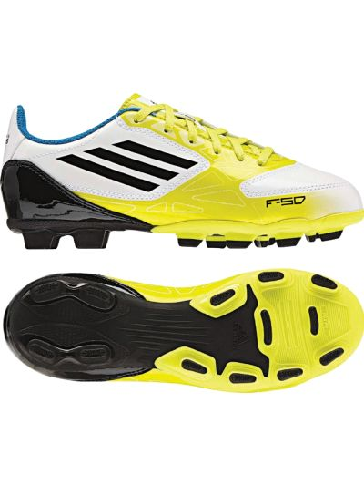 adidas F5 Trx FG Jr White-Lime