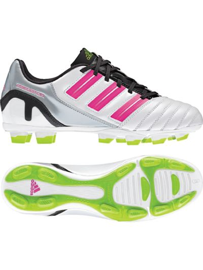 adidas Women's Predator Absolado TRX FG White-Pink  Firm Ground Soccer Shoes