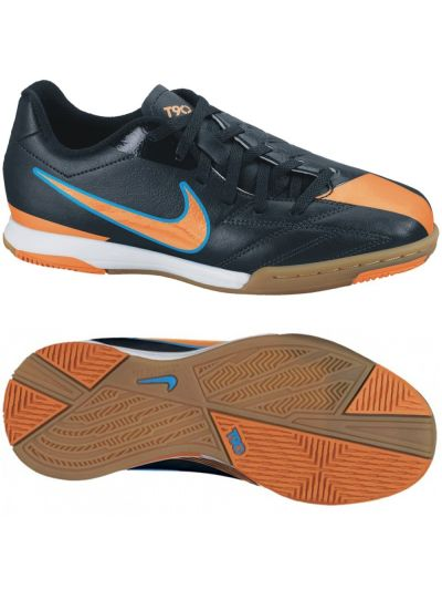 Nike Jr T90 Shoot IV IC Black-Orange-Blue