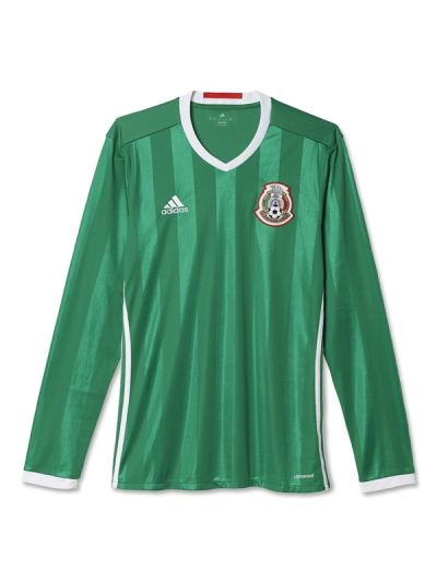adidas Mexico Home Jersey Long Sleeve 2016