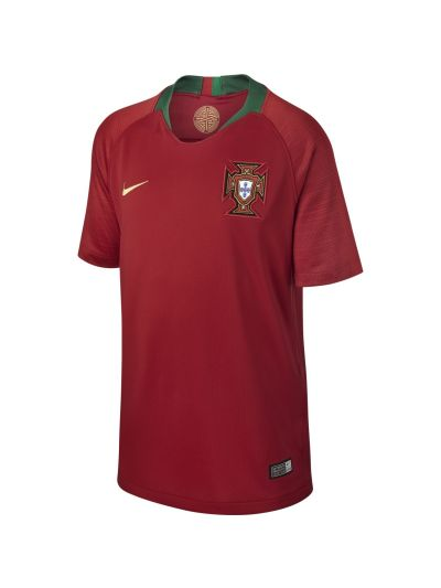 Nike Kids' Breathe Portugal Stadium Home Jersey