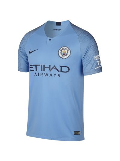 Nike Breathe Manchester City FC Home Stadium Men's Jersey