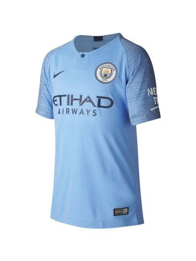 Nike Manchester City FC Stadium Home Kids' Football Jersey