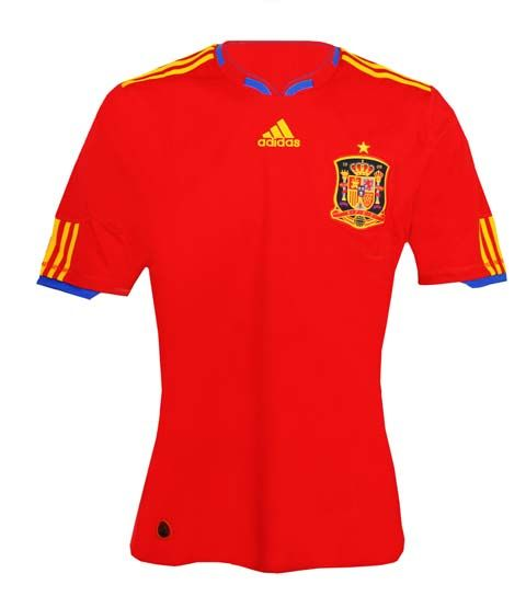 adidas Spain Home Youth Jersey 2010/11