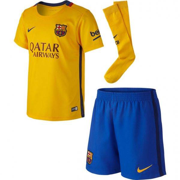 Nike Barcelona Away Infants Mini-Kit 2015