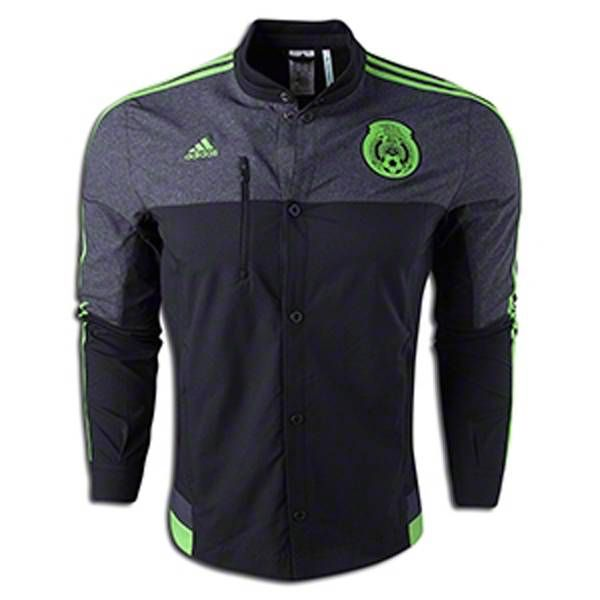 adidas Mexico Away Jacket Black Green