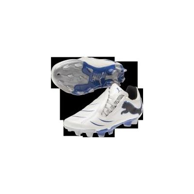 Puma PWR-C 3.1 FG Jr White/Blue Youth Firm Ground Soccer Shoes
