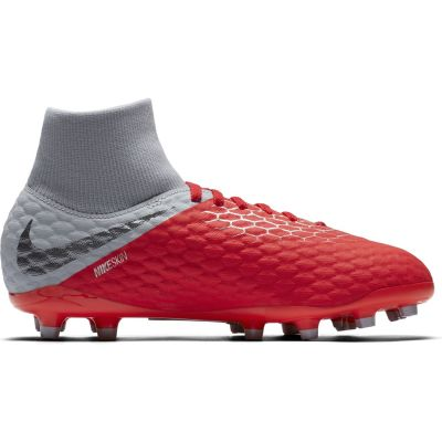 Nike Kids' Jr. Hypervenom 3 Academy Dynamic Fit (FG) Firm-Ground Football Boot